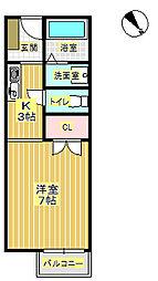 T・パークアベニュー1[2階]の間取り