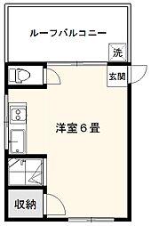 京浜マンション[5階号室]の間取り
