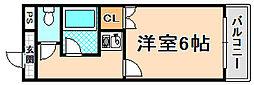 兵庫県川西市久代1丁目の賃貸アパートの間取り