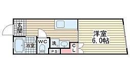 品川マンション[3階]の間取り