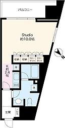 東急田園都市線 池尻大橋駅 徒歩2分の賃貸マンション 3階ワンルームの間取り