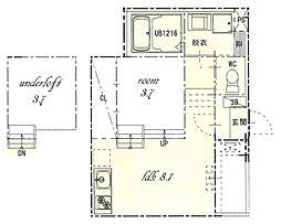 熱田区旗屋二丁目SKHコーポ[1階]の間取り