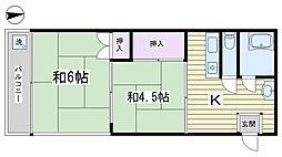 秋庭コーポ[504号室]の間取り