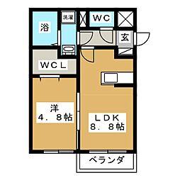 ローズロイN28[2階]の間取り
