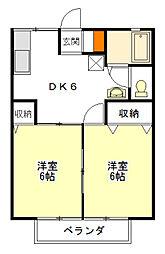 リーベンハイツ21[1階]の間取り