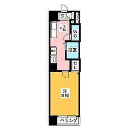プラウランド岐阜[10階]の間取り