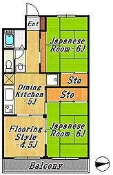 メゾンオンダ[2階]の間取り