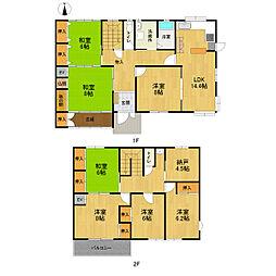[一戸建] 愛知県名古屋市西区比良1丁目 の賃貸【/】の間取り