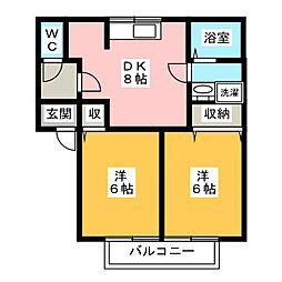 パミドールC[2階]の間取り