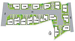 全16区画・全面道路4.34m、6m