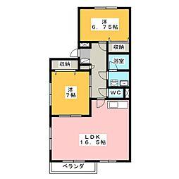 ラ・メール2[2階]の間取り