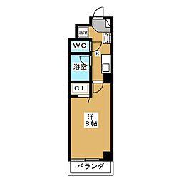 シティコート室町[2階]の間取り