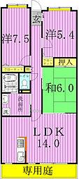 モラダ・アケボノ[108号室]の間取り