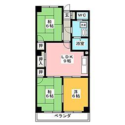 マンションカワシマ[3階]の間取り