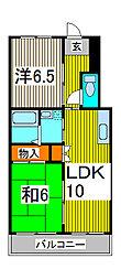 ソリッドリファイン蕨[3階]の間取り