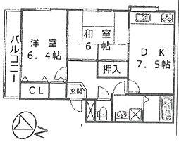 サウス武庫之荘[201号室]の間取り