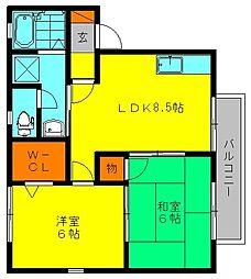 セジュール優II[2階]の間取り