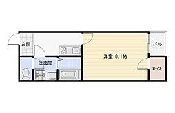 大阪府大阪市平野区平野馬場1丁目の賃貸アパートの間取り