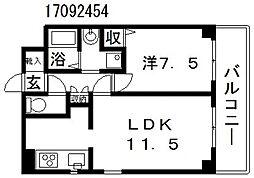 ラフォーレ駒川[2階]の間取り