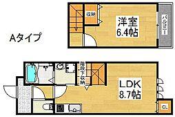 ツインフォレスト住之江I番館[1階]の間取り
