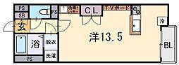 大阪府東大阪市衣摺4丁目の賃貸アパートの間取り