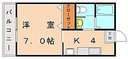 ラリーグラス22[5階]の間取り
