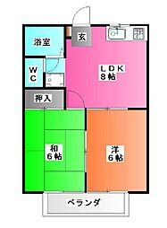メゾンアルモニー[3階]の間取り