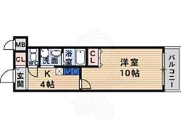 JR片町線(学研都市線) 長尾駅 徒歩26分の賃貸マンション 1階1Kの間取り