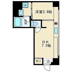 北浜コンソール[5階]の間取り