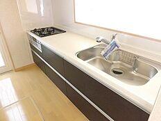 スライド収納、浄水式水栓
