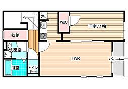 大阪府八尾市南小阪合町2丁目の賃貸アパートの間取り