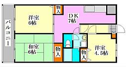 メゾンドール・カムイベータ館[302号室]の間取り