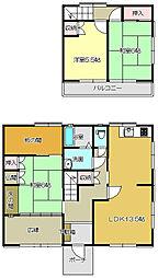 [一戸建] 福岡県北九州市小倉南区朽網西4丁目 の賃貸【/】の間取り