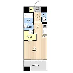 LIBTH(リブス)吉塚II 6階ワンルームの間取り