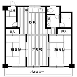 東京都練馬区田柄の賃貸マンションの間取り