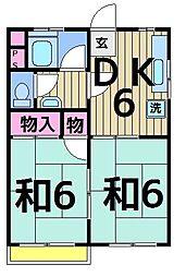 コーポトノヅカ[203号室]の間取り