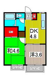 コンフォートマンション東内野[2階]の間取り