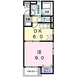 西国PLANETマンション[3階]の間取り