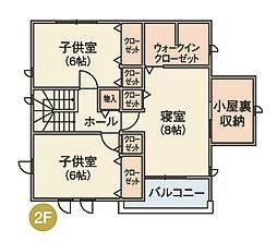 2階の間取り図...