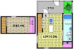 兵庫県神戸市東灘区本山北町4丁目の賃貸マンションの間取り