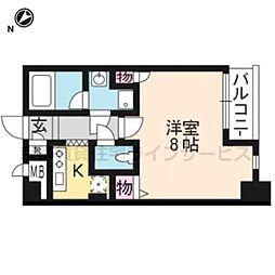 クオリカ西京極[303号室]の間取り