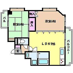 兵庫県神戸市灘区大内通1丁目の賃貸マンションの間取り