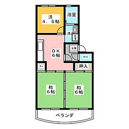 フィルドウス A棟[3階]の間取り