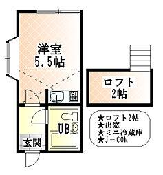 東京都板橋区東新町1丁目の賃貸アパートの間取り