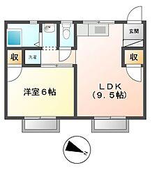 カームヤハギ[2階]の間取り