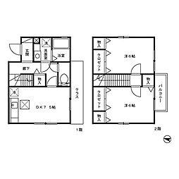 [テラスハウス] 神奈川県相模原市緑区相原5丁目 の賃貸【/】の間取り