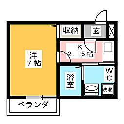 Studio Flat[4階]の間取り