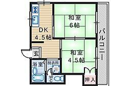 太原マンション[2階]の間取り