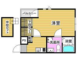 福岡県福岡市早良区昭代3丁目の賃貸アパートの間取り
