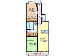 静岡県富士市石坂の賃貸マンションの間取り
